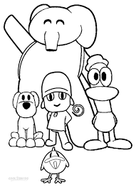 free to download pocoyo coloring pages 13 on coloring books with