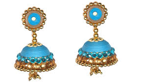 ear ring images beautiful paper quilling ear ring jhumka for silk saree diy