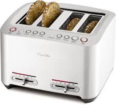Breville Die Cast Smart Toaster Breville Bta840xl 4 Slice Smart Toaster With Lift U0026 Look A Bit