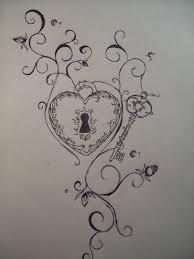 beautiful heart lock n key tattoo design in 2017 real photo