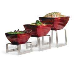 46009 vollrath square bent buffet risers