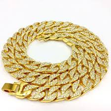 gold diamond love necklace images Gold diamond chain men 39 s necklace high quality all drilling iced jpg