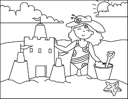 Castle Coloring Pages Sandcastle Coloring Page