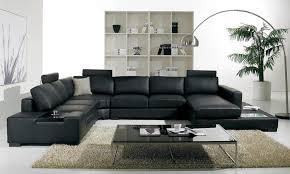 Leather Sofa Set For Living Room Decoration Black Living Room Furniture Living Room With Black