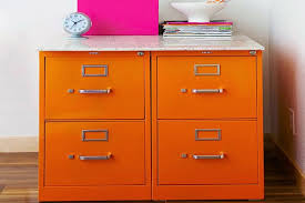 Yellow Metal Filing Cabinet Adorable Filing Cabinet Makeover Ideas Homeagination