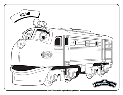 chuggington coloring pages chuggington wilson train coloring