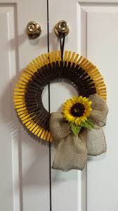 sunflower clothespin wreath things i u0027ve made pinterest