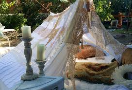 vintage wedding tent teepee hippie decor made to order antique