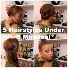 5 hairstyles under 5 minutes for moms on the go youtube
