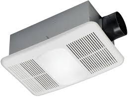 Bathroom Ceiling Fan With Light And Heater White Bathroom Exhaust Fan 1 5 Sone 80 Cfm With Integrated Heater