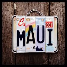 maui made in hawaii license plate art christmas license