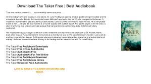the taker free books audio