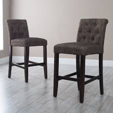 Counter Height Bar Stool Agreeable To It Morgana Onyx Tufted Bar Stool Hayneedle Metal