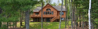 Lake House Plans Walkout Basement Clearwater Lake New Log Home For Sale With Walkout Basement