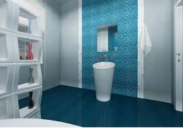 Bathroom Floor Tile Ideas Divider On Luxury Dark Blue Bathroom Floor Tile For Freestanding