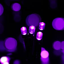 50 led battery powered purple fairy string lights with timer