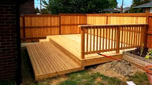 furniture attractive modern backyard fence and deck home decor