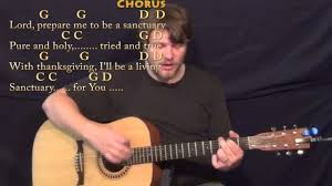 guitar center thanksgiving sanctuary praise song strum guitar cover lesson in g with chords