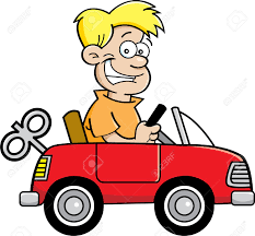 cartoon car back kilograms grams miles and money flipquiz