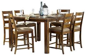 Homelegance Ronan  Piece Counter Height Table Set In Burnished - 7 piece dining room set counter height