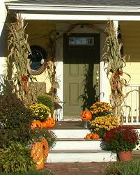 Fall Decorated Porches - new england fall decorated front porches autumn front porch