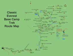 Where Is Mount Everest On A World Map by Everest Base Camp Trek Everest Six Summit Adventures