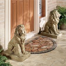 lions at guard sculpture pair click to expand