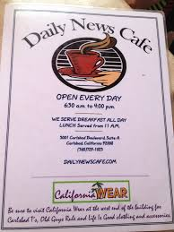 menu at daily news cafe 3001 carlsbad blvd ste a restaurant prices