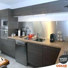 cuisine avec credence inox accessoire credence inox ides cuisine cuisine cuisine living rich