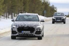 bmw q7 car 2018 audi q8 seen testing alongside q7 volvo xc90 and bmw 7