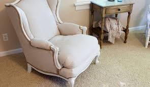 How To Reupholster A Bar Stool Affordable Diy No Sew Wingback Chair Re Upholster