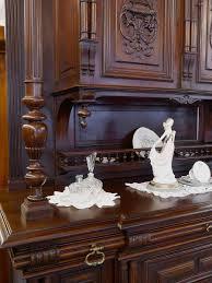 Wohnzimmerschrank Mahagoni Buffetschrank Kapellenschrank Küchenschrank Antik Gründerzeit Um