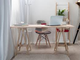Modern Home Office Furniture Nz Mocka Trestle Desk Available In Black White U0026 Natural
