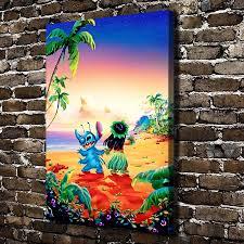 a956 lilo u0026 stitch children u0027s cartoon film hd canvas print