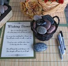 wishing stones wedding wishing stones unique special occasion or wedding guest book