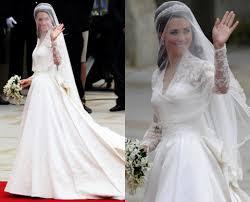 royal brides wedding gowns kate middleton vs grace kelly
