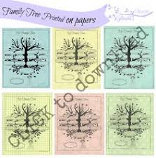 this printable family tree features a real tree and has unlabeled