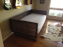 recycled barn wood and steel daybed sofa by kristina1love on etsy