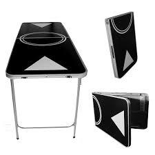 Amazon Ping Pong Table Amazon Com Portable Beer Pong Table 6 Feet With Ball Rack U0026 6