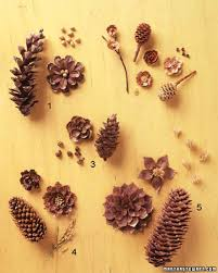 pinecone crafts pinecone golden brown and table decorations