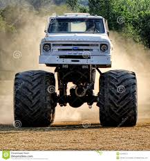racing monster truck vintage chevrolet monster truck racing in dust editorial stock
