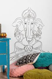Lotus Flower Wall Decal Om by Saralynnpalermo U0027s Save Of Ganesha Wall Decal On Wanelo Doodle