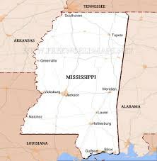 Louisiana Mississippi Map by Physical Map Of Mississippi