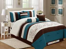 teal and brown bedding sets elegant luxurious blue and brown