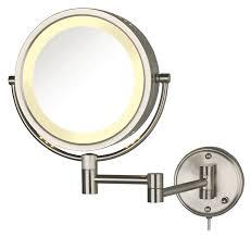 Makeup Lighted Mirror Amazon Com Jerdon Hl75bz 8 5 Inch Lighted Wall Mount Makeup