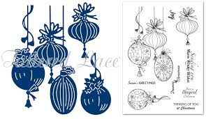 tattered lace dies essentials magic of christmas baubles