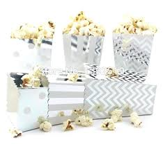 popcorn favor bags silver wedding favor bags express lot foil silver gold wedding