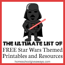 ultimate list free star wars themed printables resources