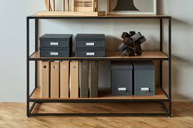Low Narrow Bookcase by Industrial Low Bookcase U2013 West Elm Workspace