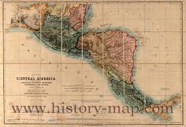 Old Map Of Mexico by Of Central America